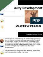 Personality Development Series - Activities