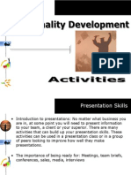 Personality Development Series - Activities