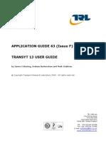 Transyt 13 User Guide
