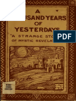 A Thousand Years of Yesterdays (1920). First edition!!!