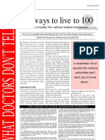 100 Ways Tot Live to 100