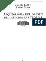 Arqueología del origen del estado, las teórias. Indice.