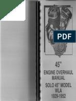 Harley-Davidson 1929-1952 WL and WLA Overhaul Service Manual