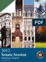 2012 Senate Session Summary Report