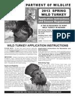 2013 Spring Turkey Application, Seasons & Regulations