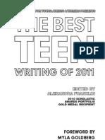 Young Artist's Alliance Best Teen Writing 2011