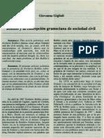 Bobbio y la concepción gramsciana de la sociedad civil