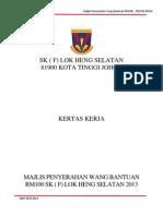 Kertas Kerja Majlis Bantuan RM100