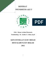 85010953 Referat Appendicitis Dr Dono SpB