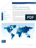 Colliers International 21 Predictions for 2013