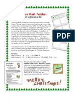 christmas math puzzlers (3rd-4th grade)