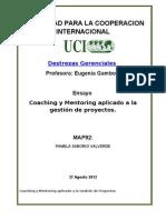 Coaching y Mentoring aplicado a la gestión de proyectos.