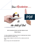 New Year Resolutions and the Child of God!