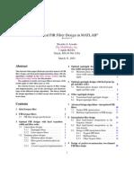 IFIR Filtr using Matlab