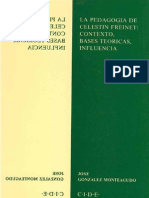 la pedagogia de celestin freinet contexto, bases teoricas, influencia
