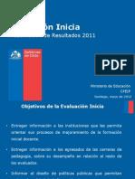Resultados Prueba Inicia 2011 (Mayo 2012)