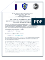 THE PASSPORT PASSPORT ID CARD ONLINE IDENTIFICATION IN THE GREAT REGISTRY AND AMERICAN NATIONAL ID CARD ACT OF 2013