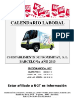 Calendario Laboral CS BCN 2013