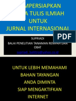 Panduan Penyusunan Jurnal International