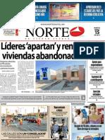 Periodico Norte de Ciudad Juárez 15 de Enero de 2013