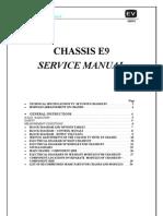Servisna Uputstva Gorenje E9