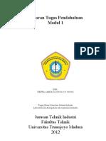 Tugas Pendahuluan Modul 1 Simulasi sistem Industri