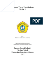 Tugas Pendahuluan Modul 2 Simulasi Sistem Industri
