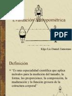 Evaluación antropometrica