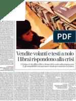Vendite Volanti e Testi a Nolo, I Librai Rispondono Alla Crisi - La Stampa 15.01.2013