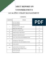 Customer Focus on Supply Chain Management