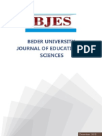 BEDER UNIVERSITY JOURNAL OF EDUCATIONAL SCIENCES.
