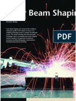 Laser beam shaping