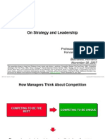 On Strategy and Leadership