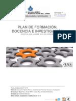 PLAN DE FORMACIÓN, DOCENCIA E INVESTIGACIÓN 2013