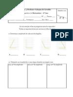 Teste diagnostico Matemática 6º ano
