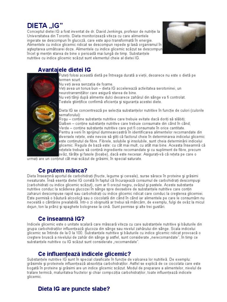 Dieta cu indice glicemic mic