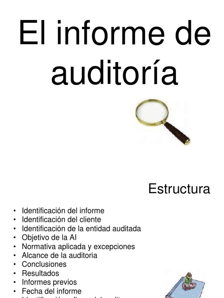Estructura Del Informe De Auditoria Interna Auditoría