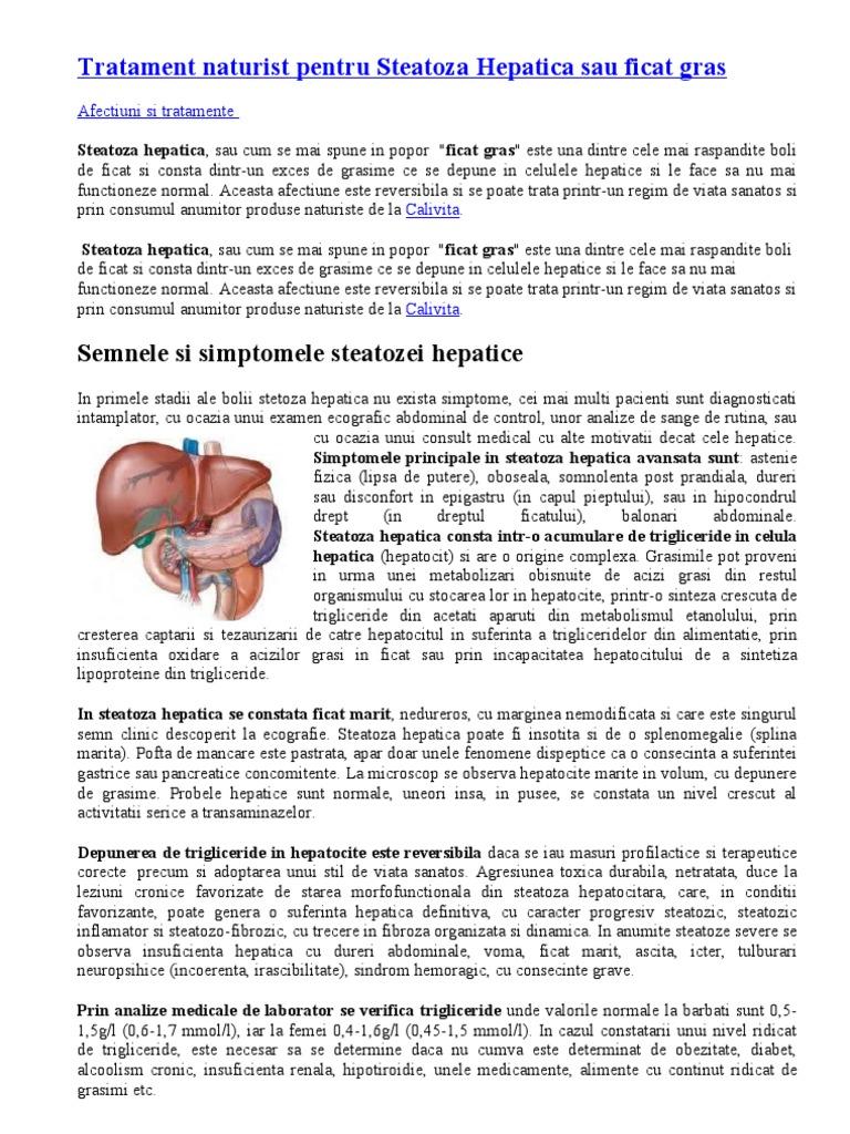 regim pt steatoza hepatica)