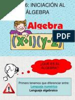 Iniciación al álgebra 1ºESO
