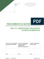 Identificación y Evaluación de Aspecto Ambientales
