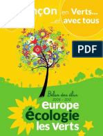 Bilan élus EELV Besançon