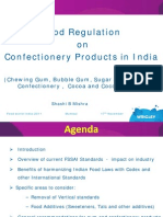 Food regulations on confectionery products