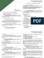 Caderno de Processo Penal I