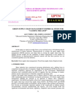 GREEN SUPPLY CHAIN MANAGEMENT EMPIRICAL STUDY FOR ''CLOSING THE LOOP''