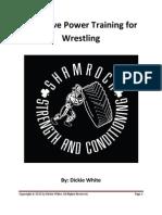 Explosive Power Training for Wrestling