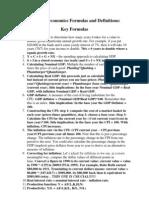 Micro economics formula