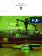 Les juges français et l'économie une défiance française