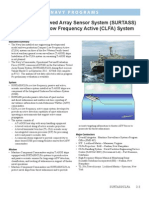 Surveillance Towed Array Sensor System (SURTASS) and Compact Low Frequency Active (CLFA) System