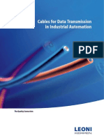 Cables for Data Transmission in Industrial Automation