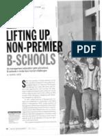 Lifting Up Non-Premium B-Schools